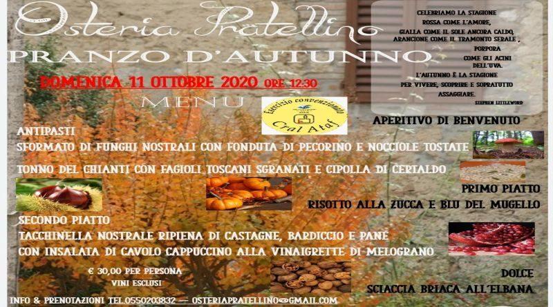 Osteria del Pratellino … Pranzo d'autunno…