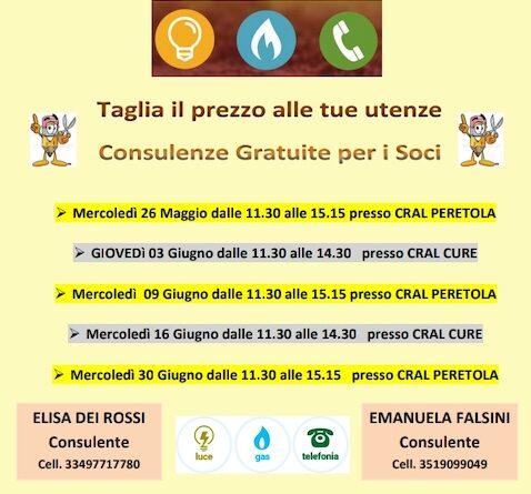 Consulenza per soci LUCE GAS e TELEFONIA